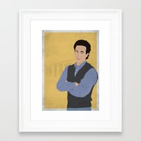 seinfeld Framed Art Prints featuring Jerry Seinfeld // Seinfeld // Graphic Design by Dick Smith Designs