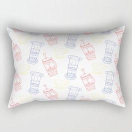 Coffee Brewing Pattern - Primary Rectangular Pillow