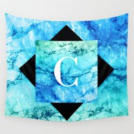 C - Monogram Vivids Wall Tapestry