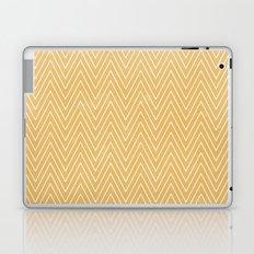 Mustard Chevron Laptop & iPad Skin