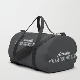 Minimalistic Inspirational Quote Duffle Bag