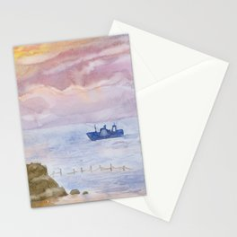 Sunset on the Black Sea Stationery Cards