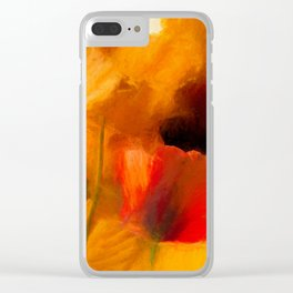 Mystic Poppies Clear iPhone Case