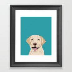 Golden Labrador Retriever modern minimal pet friendly dog person gift for labrador owner must have Framed Art Print