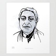 MAP: Gayatri Spivak Art Print