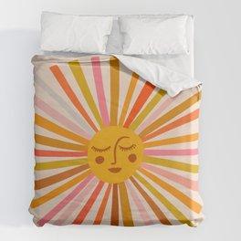 Sunshine – Retro Ochre Palette Duvet Cover