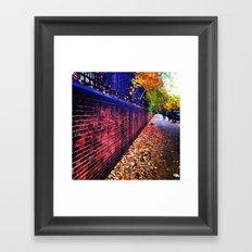 Red Brick Wall Framed Art Print