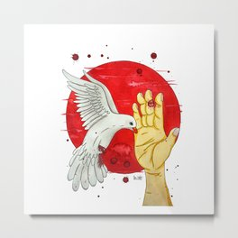 Pigeon of the peace Metal Print