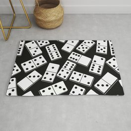 Black and white domino seamless pattern Rug