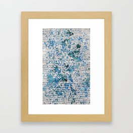 Blue and Emerald Splatter Framed Art Print