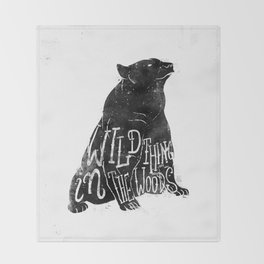 Wild Thing in the Woods Throw Blanket