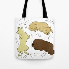 Sleeping Dogs Tote Bag