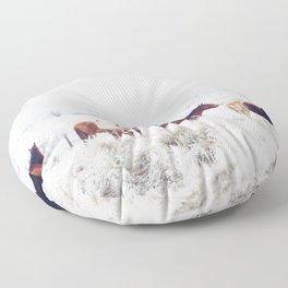 Winter Horseland Floor Pillow
