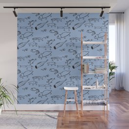 Hand drawn lures Wall Mural