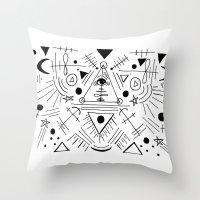 hocus pocus Throw Pillows featuring Just a Little Hocus Pocus  by NicoleLaFleur