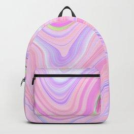 Pastel Pink & Violet Lava Marble Backpack
