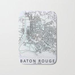 Baton Rouge, LA, USA, White, City, Map Bath Mat