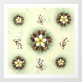 Plumeria Mandala Art Print