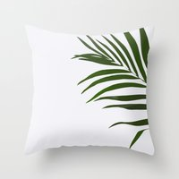 fern Throw Pillows featuring Fern by Tamsin Lucie