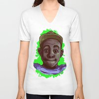 tyler the creator V-neck T-shirts featuring Tyler The Creator II (Green) by ASHUR Collective™
