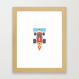 "Creative Drive - ""Car for illustrators"" Framed Art Print"