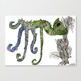 Cameleon Toe Canvas Print