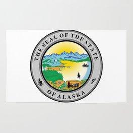 Seal of the state of Alaska Rug
