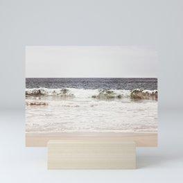 Neutral Ocean Landscape Photography, Grey Seascape Art, Gray Sea Beach Photo, Coastal Print Mini Art Print