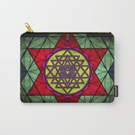 Sacred Geometry for your daily life- SRI YANTRA Carry-All Pouch