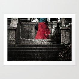 Red Skirt Art Print