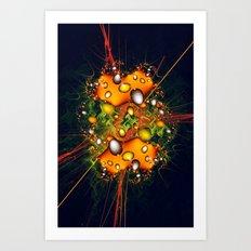 Galaxy Explosion Art Print