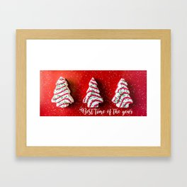 Best time of the year Framed Art Print