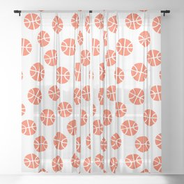 Basketball Pattern Sheer Curtain