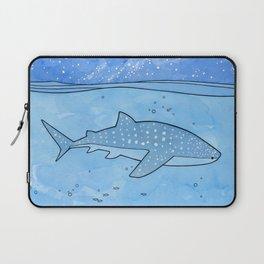 Whale shark and stars Laptop Sleeve