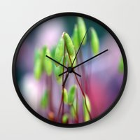 moss Wall Clocks featuring Moss  by LoRo  Art & Pictures