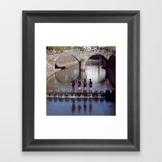 School trip Framed Art Print