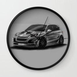 Porsch Cayenne Gray Artrace body-kit Wall Clock