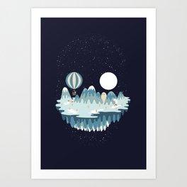 Winter skull Art Print