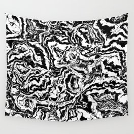 modern scramble, black and white Wall Tapestry
