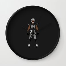 Silver and Black - Charles Woodson Wall Clock
