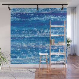 Blue Watercolor & Lace Water Print Wall Mural