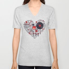 Music in every heartbeat Unisex V-Neck