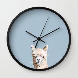 Llama lloves you Wall Clock