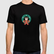 Day 07/25 Advent - Merry Little Christmas Mens Fitted Tee Black MEDIUM