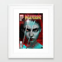 book cover Framed Art Prints featuring Comic Book Cover by iArtMike