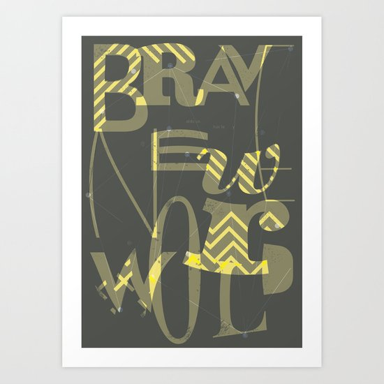 Brave New World, Book Cover Redesign Art Print