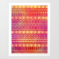 Inspired Aztec Pattern Art Print