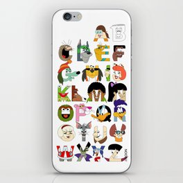 Child of the 70s Alphabet iPhone Skin
