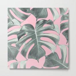 Tropical Monstera Leaves Dream #10 #tropical #decor #art #society6 Metal Print