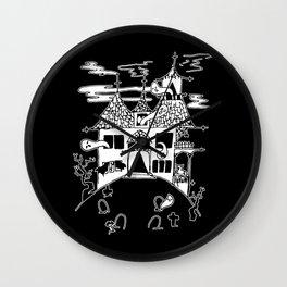 ▴ haunted house ▴ Wall Clock